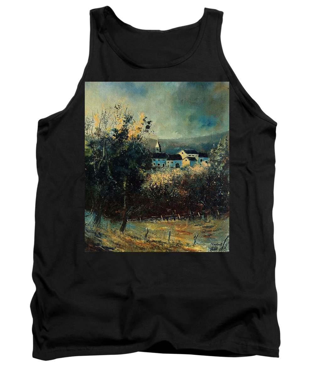 Landscape Tank Top featuring the painting Village by Pol Ledent