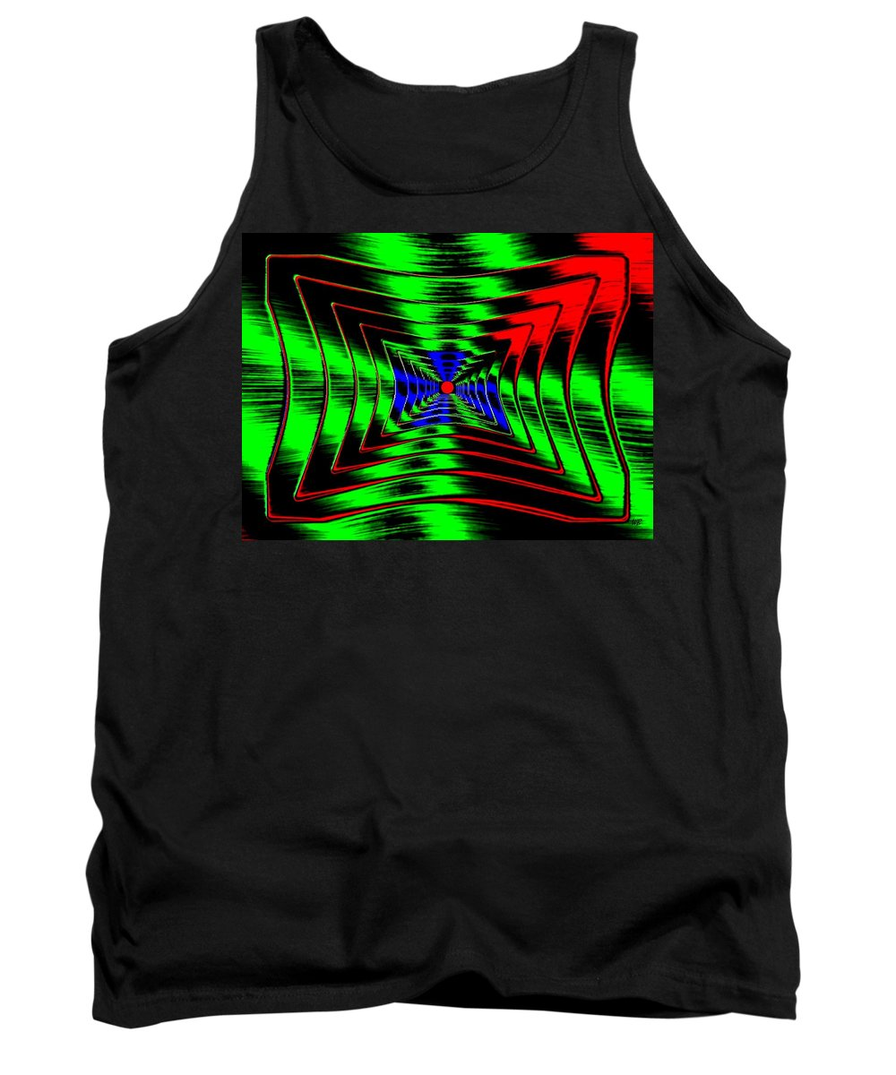 Energizing Tank Top featuring the digital art Vim And Vigor by Will Borden