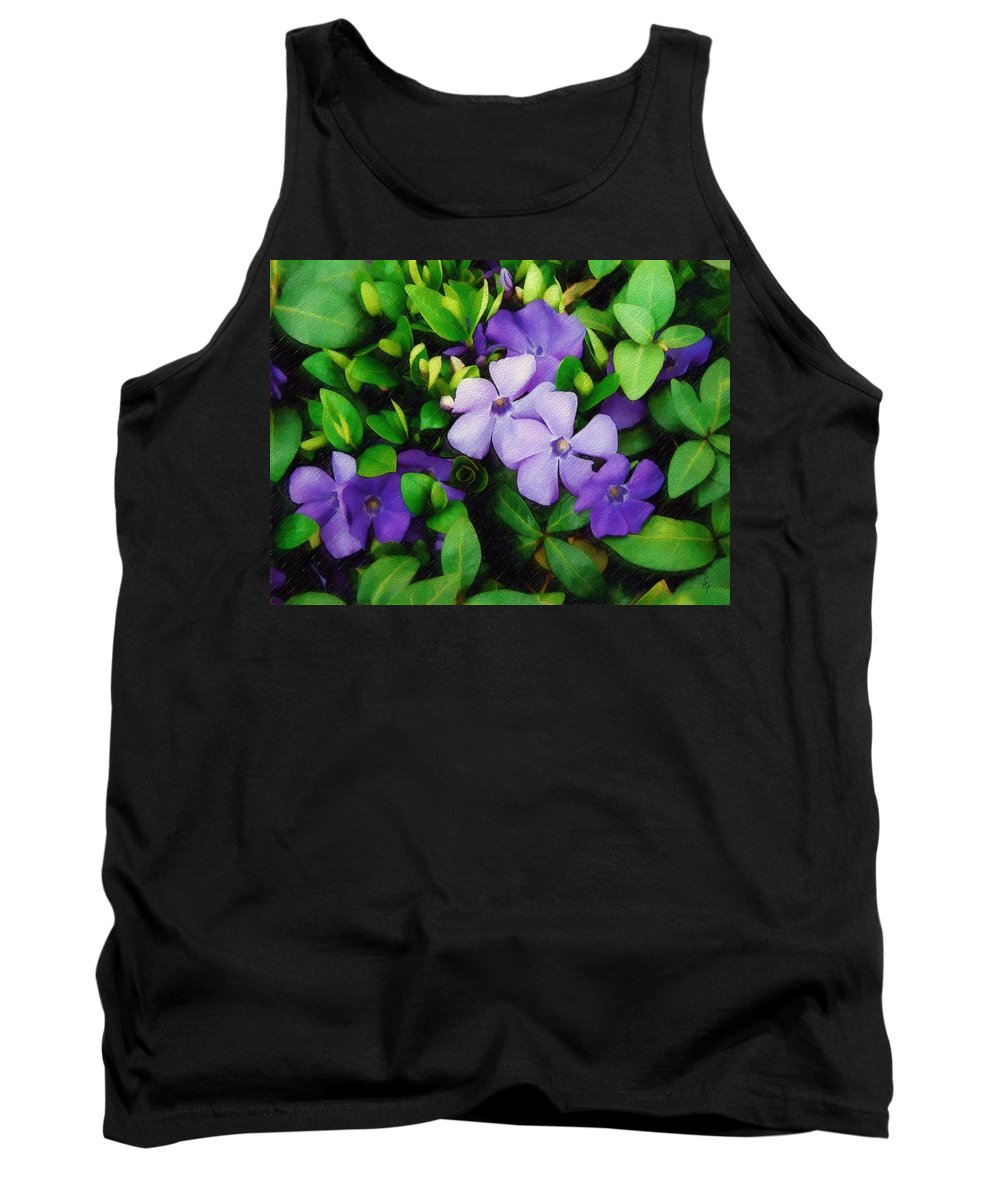 Vinca Tank Top featuring the photograph Vinca by Sandy MacGowan