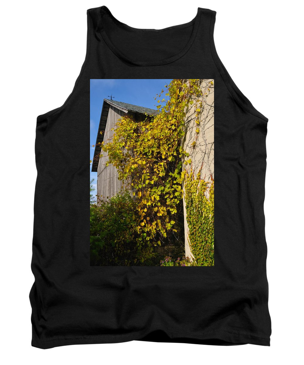 Silo Tank Top featuring the photograph Vined Silo by Tim Nyberg