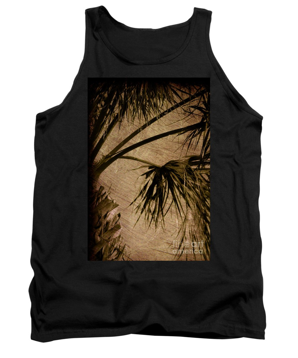 Palm Tank Top featuring the photograph Vintage Palm by Susanne Van Hulst