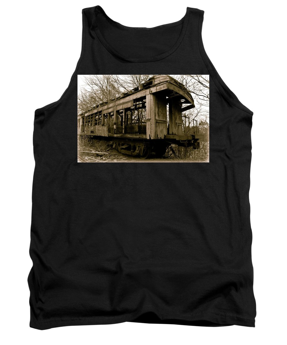 Train Tank Top featuring the photograph Vintage Train by Amber Flowers
