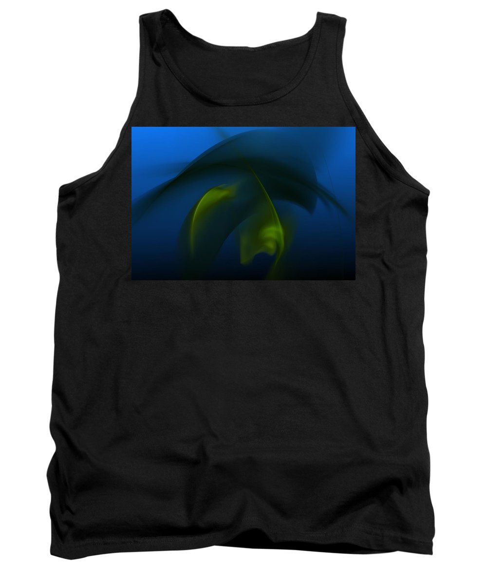 Digital Painting Tank Top featuring the digital art Visitors From The Deep by David Lane