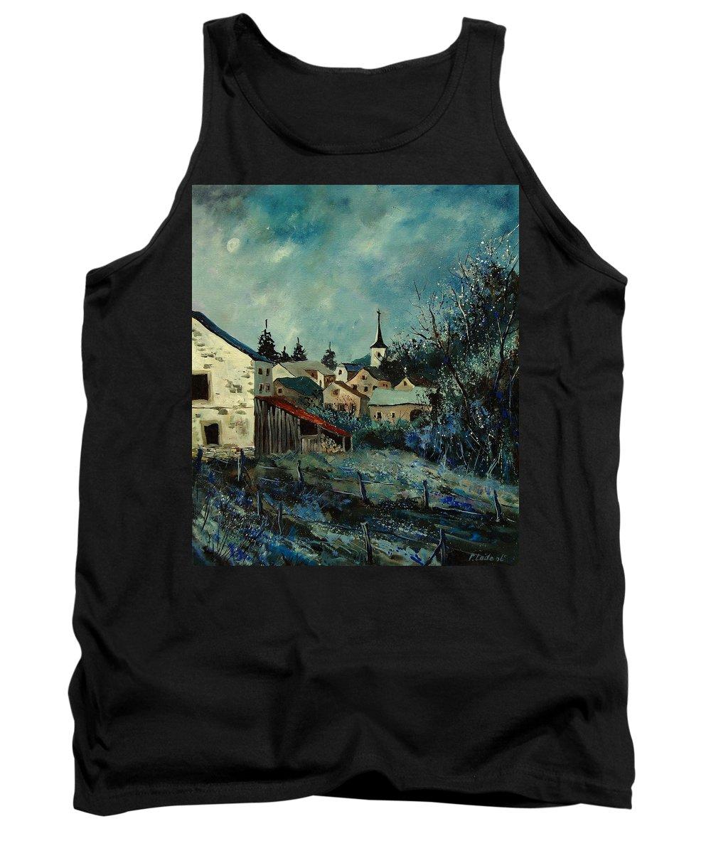 Village Tank Top featuring the painting Vivy Bouillon by Pol Ledent