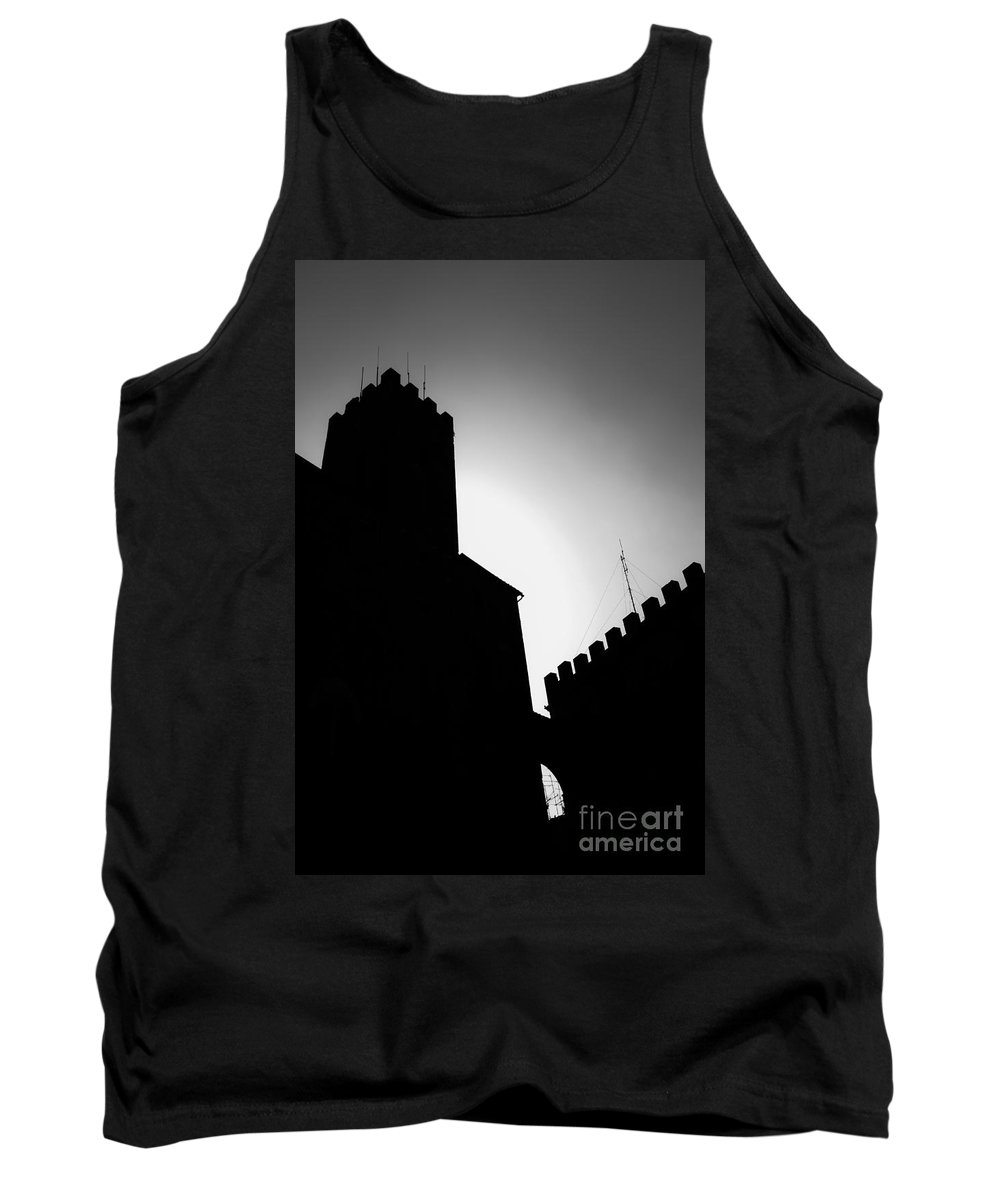 Shadow Tank Top featuring the photograph Volterra Italy by Edward Fielding
