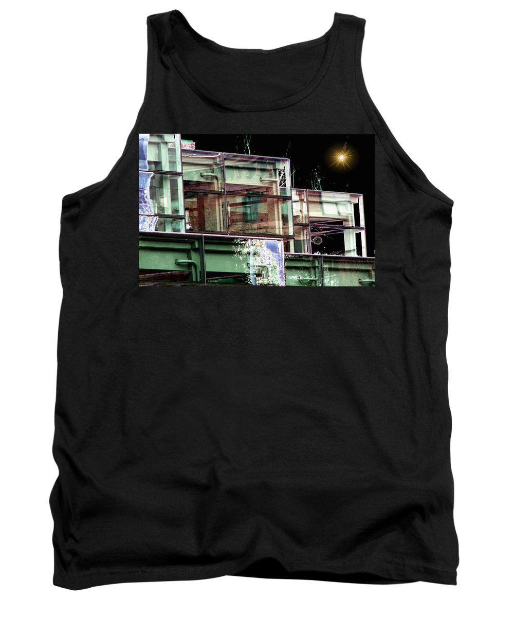 Seattle Tank Top featuring the digital art Wa State Convention And Trade Center by Tim Allen