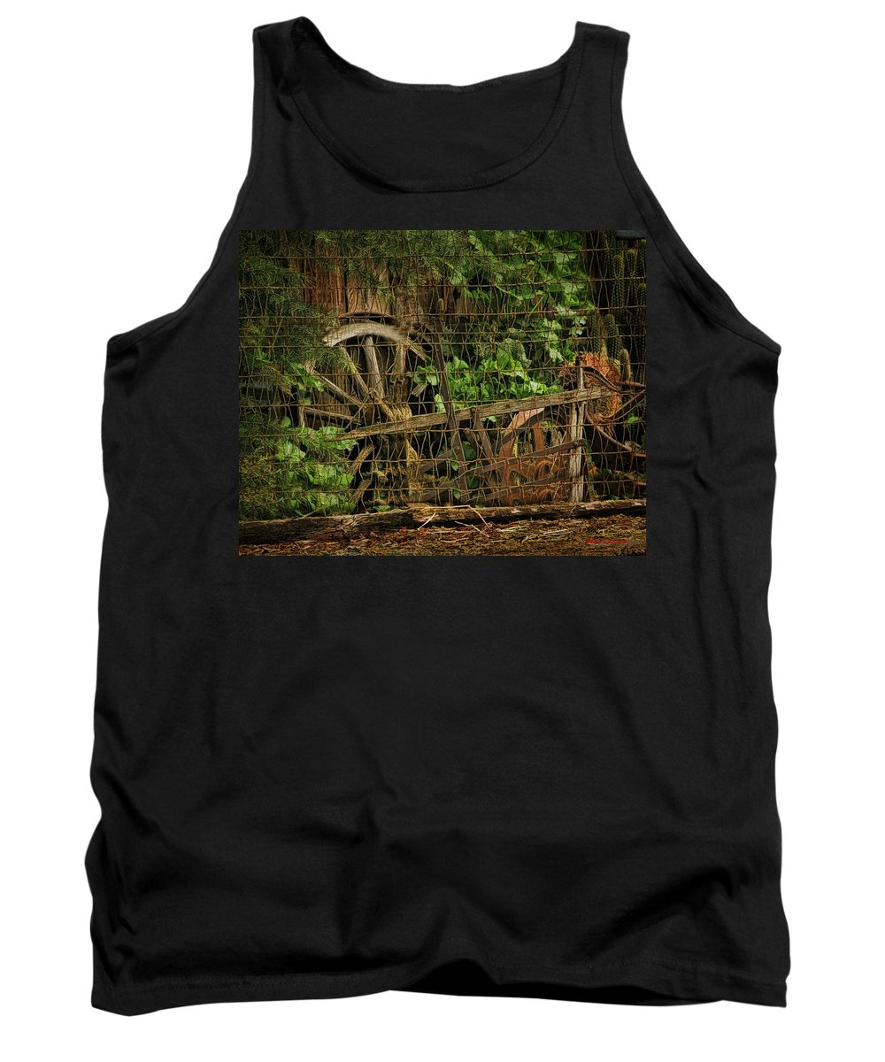 Tank Top featuring the photograph Wagon Wheel by Blake Richards