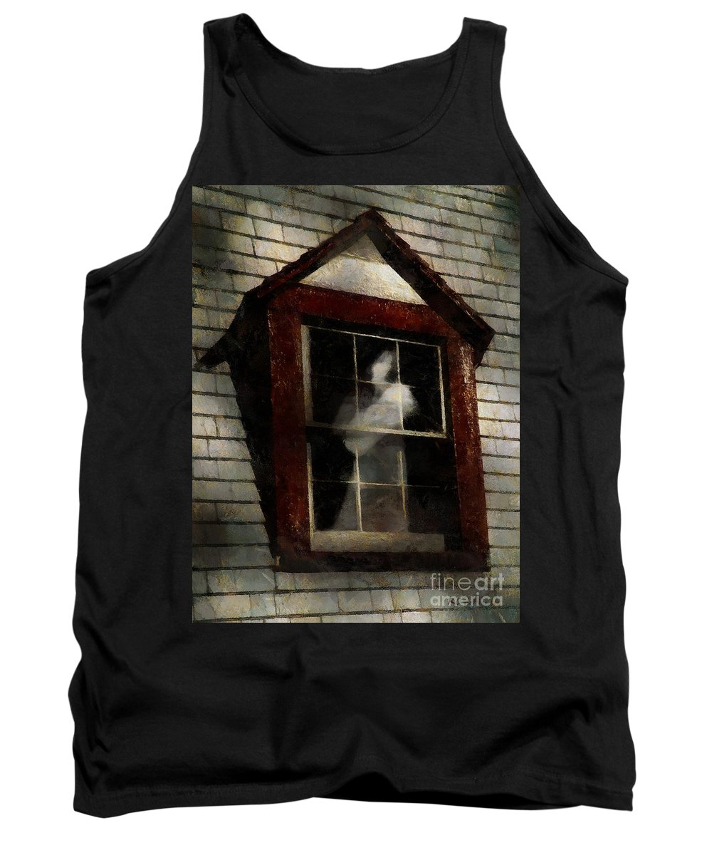 Window Tank Top featuring the painting Waiting For Henry by RC DeWinter