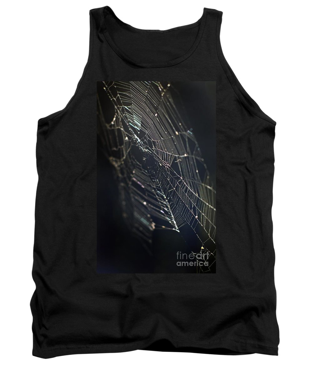 Spider Webs Tank Top featuring the photograph Waiting... by Norman Andrus