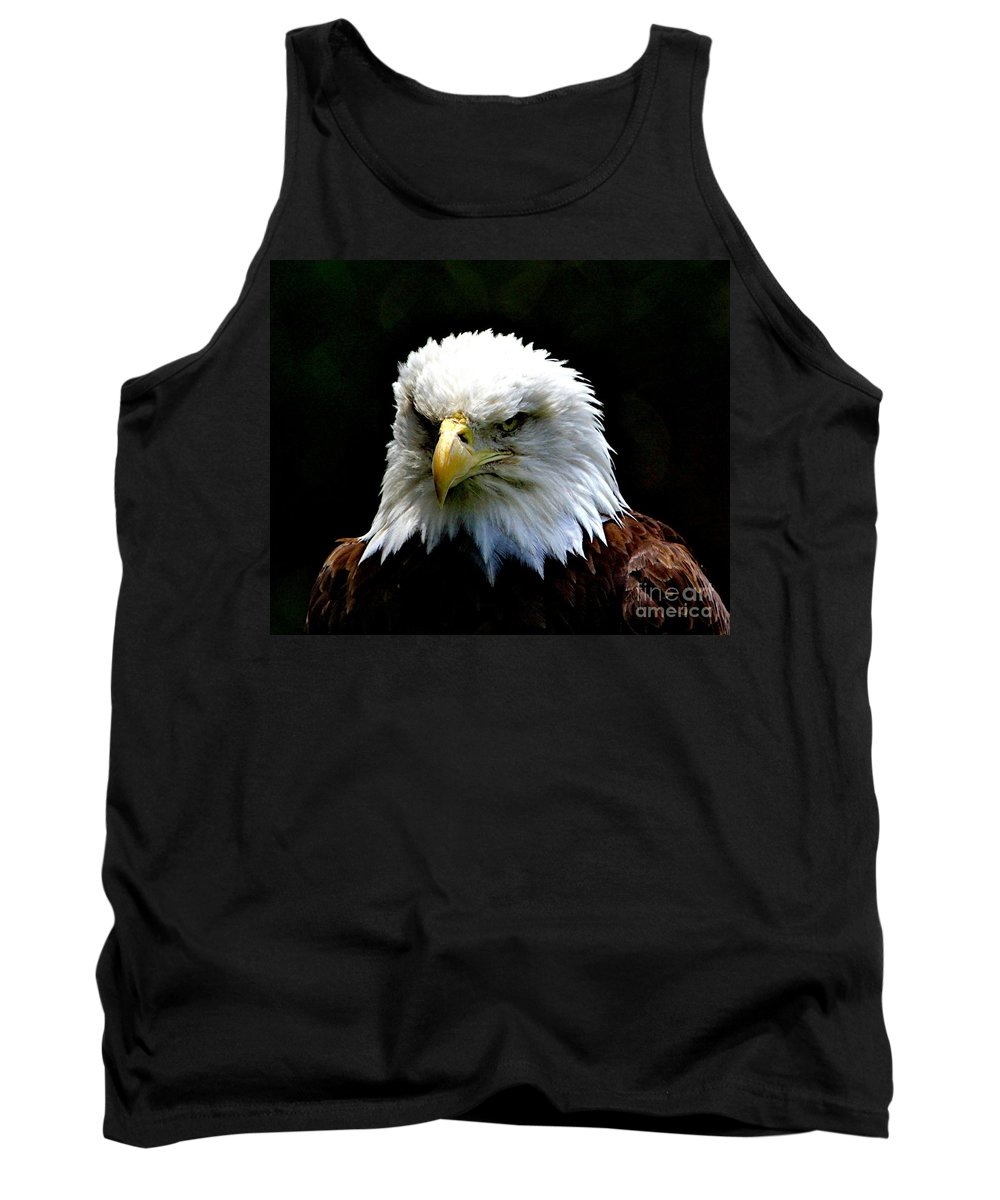 Eagle Tank Top featuring the photograph Wake Up America by Robert Pearson