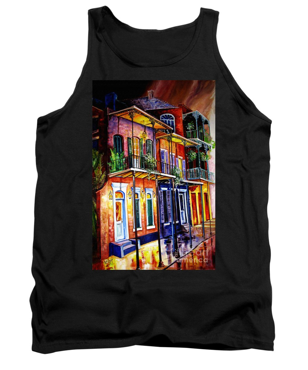 New Orleans Paintings Tank Top featuring the painting Walk Into The French Quarter by Diane Millsap