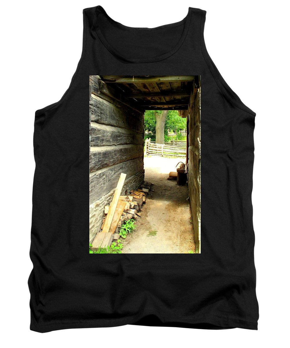 Pioneer Tank Top featuring the photograph Walkway by Ian MacDonald