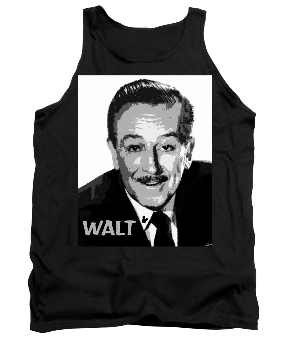 Art Tank Top featuring the painting Walt by David Lee Thompson