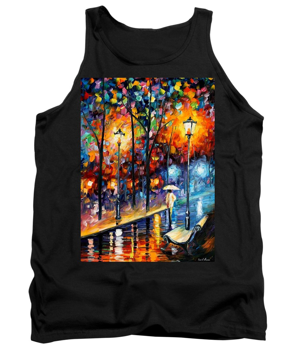 Afremov Tank Top featuring the painting Warm Winter by Leonid Afremov