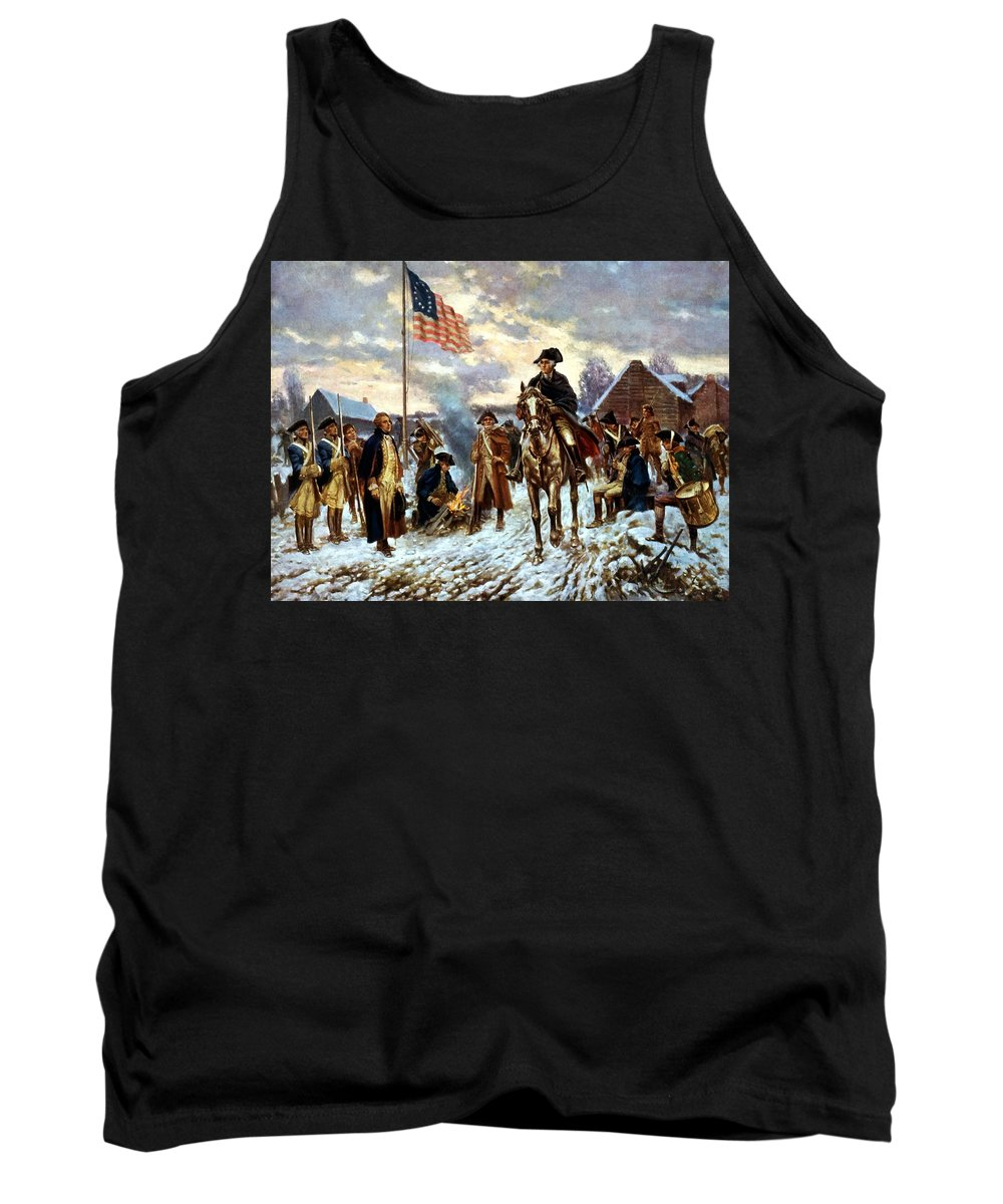 George Washington Tank Top featuring the painting Washington At Valley Forge by War Is Hell Store