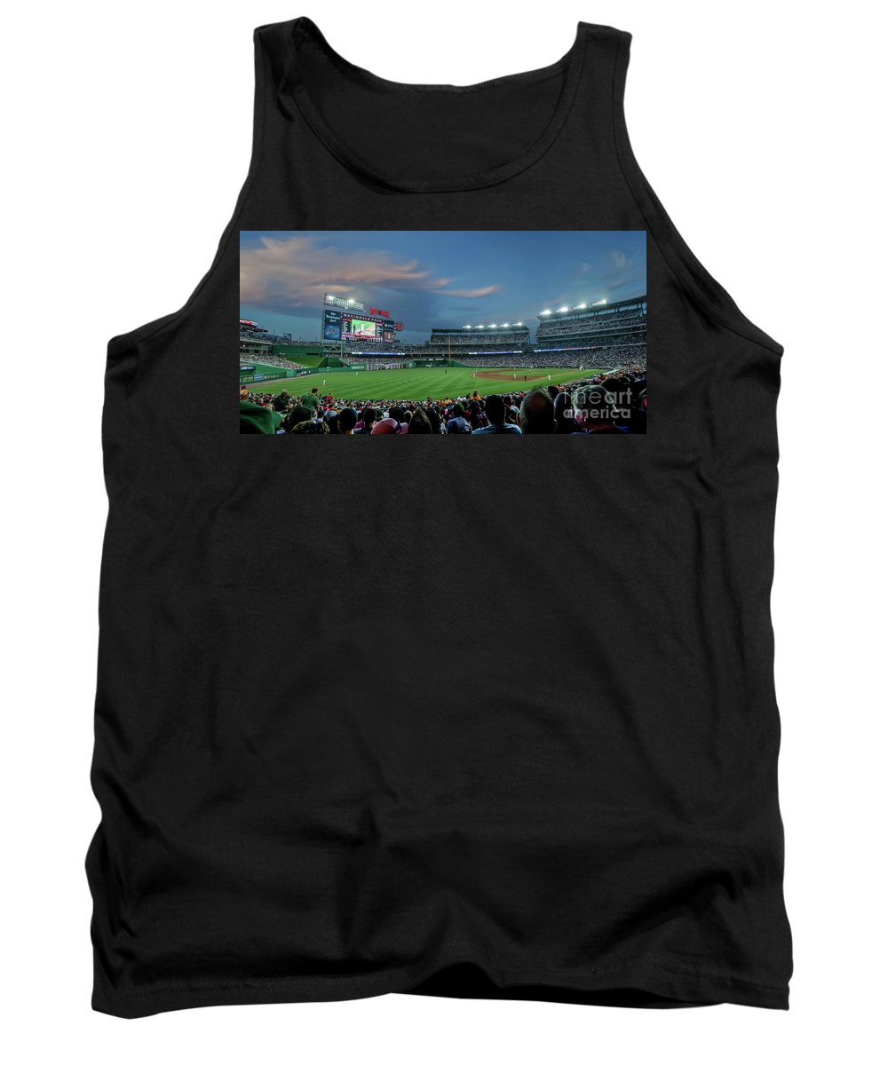 Red Sox Tank Top featuring the photograph Washington Nationals In Our Nations Capitol by Thomas Marchessault
