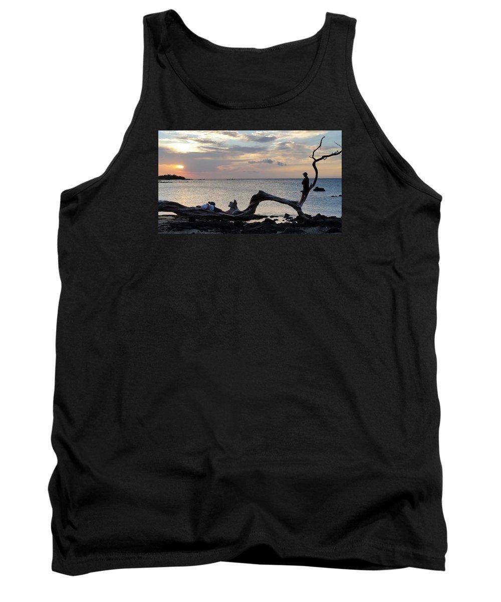 Pamela Walton Tank Top featuring the photograph Watching The Sunset by Pamela Walton
