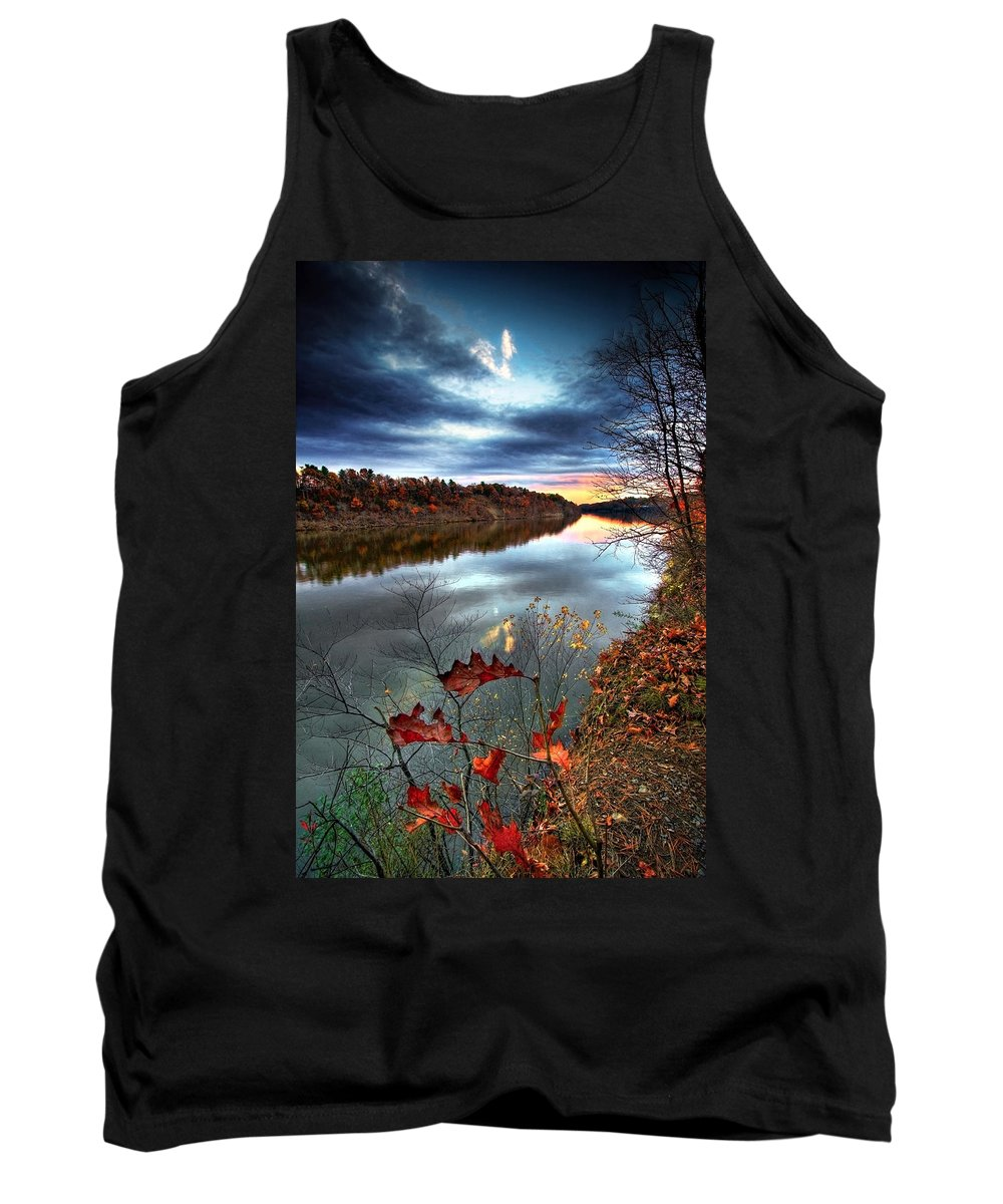 Mohawk River Tank Top featuring the photograph Water Colors by Neil Shapiro