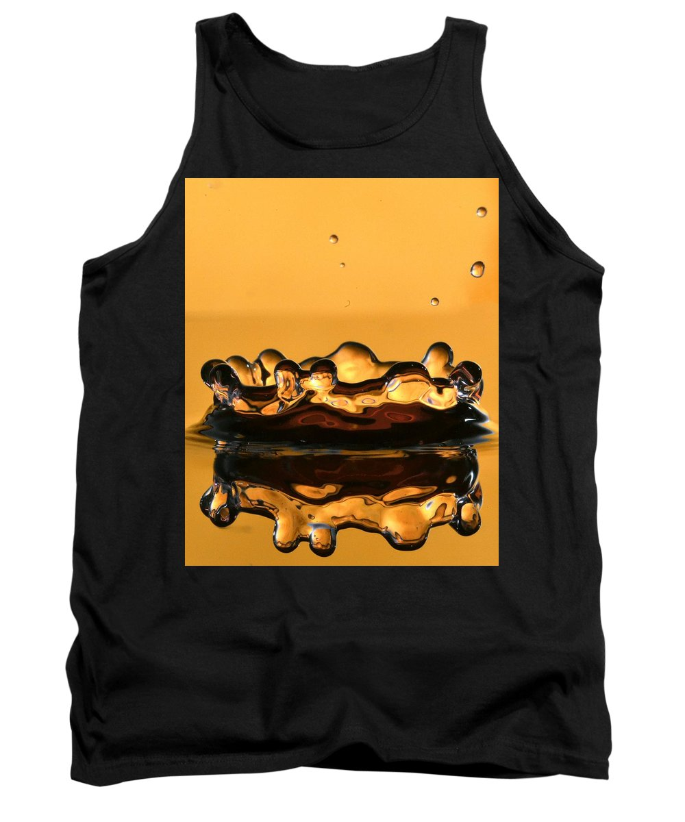 It's A Water Drop. Creative Photography. Tank Top featuring the photograph Water Crown by Jainik Ranpara