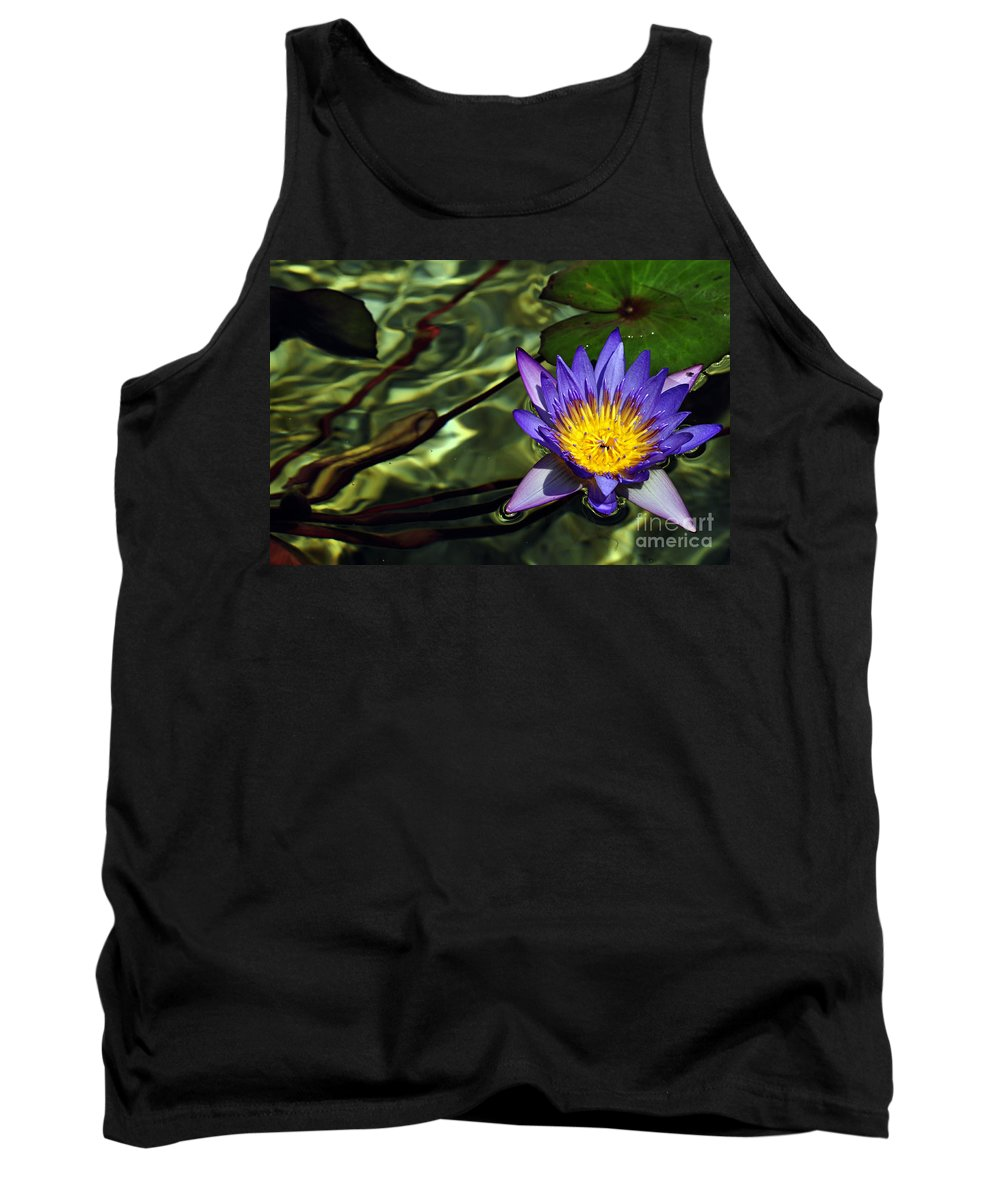 Clay Tank Top featuring the photograph Water Floral by Clayton Bruster