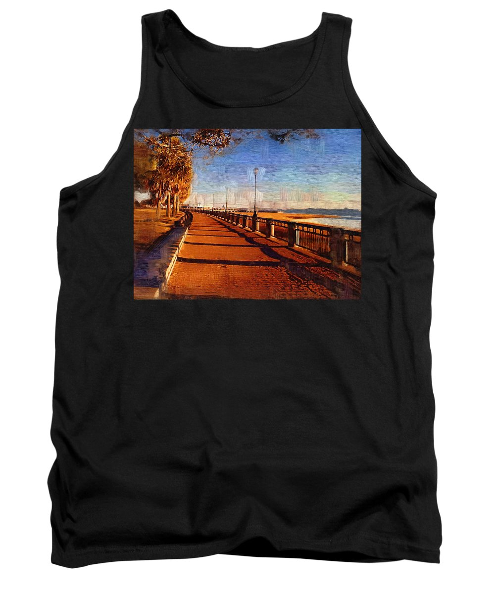 Lowcountry Tank Top featuring the photograph Water Front Park by Donna Bentley