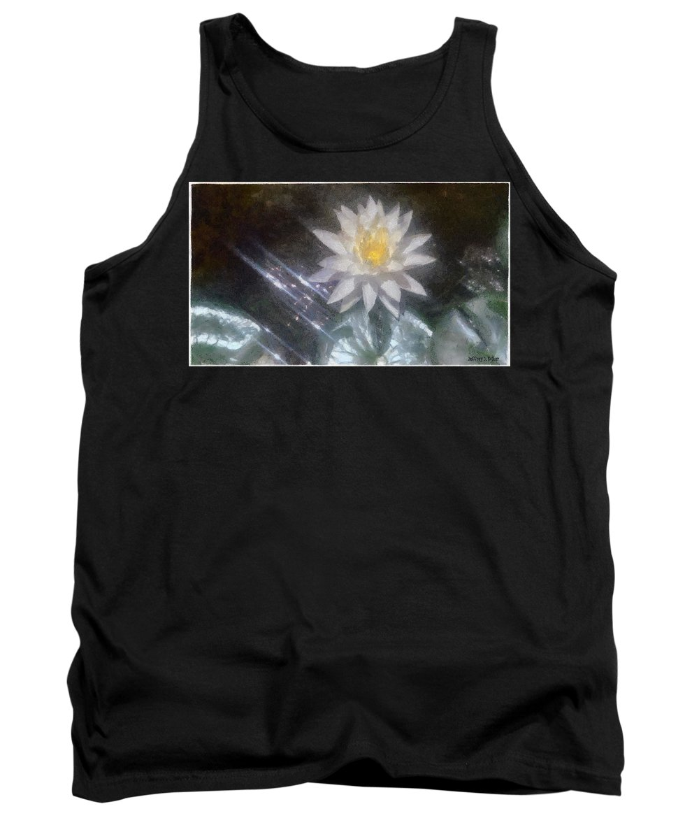 Water Lily Tank Top featuring the painting Water Lily In Sunlight by Jeffrey Kolker