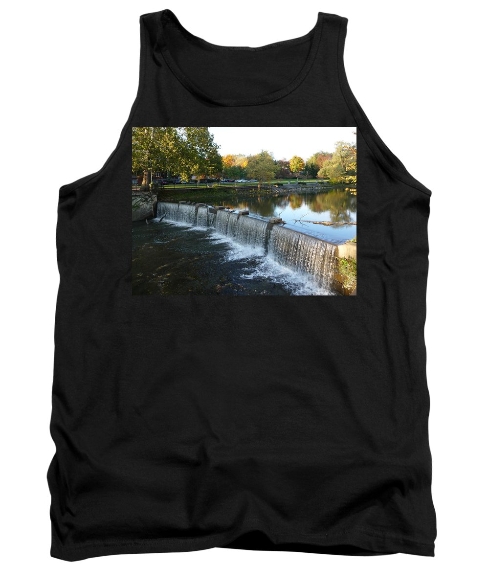 Chagrin Falls Tank Top featuring the photograph Water Over The Dam by Joel Deutsch