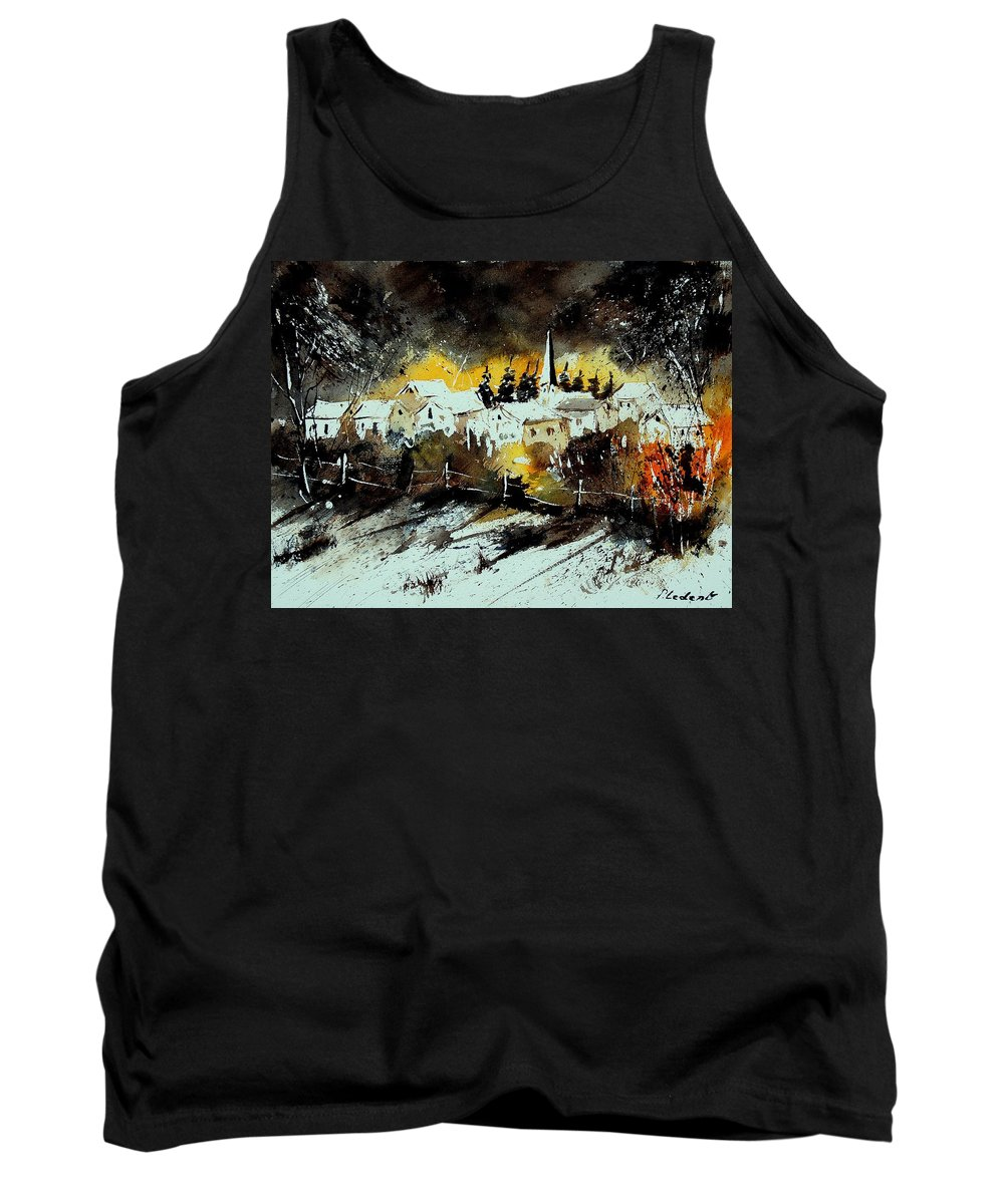 River Tank Top featuring the painting Watercolor 909072 by Pol Ledent