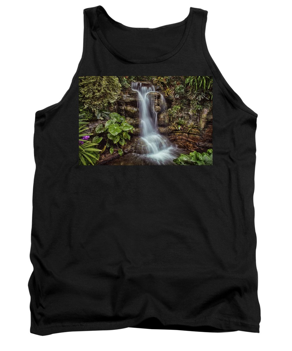 Waterfall Tank Top featuring the photograph Waterfall In The Opryland Hotel by Diana Powell