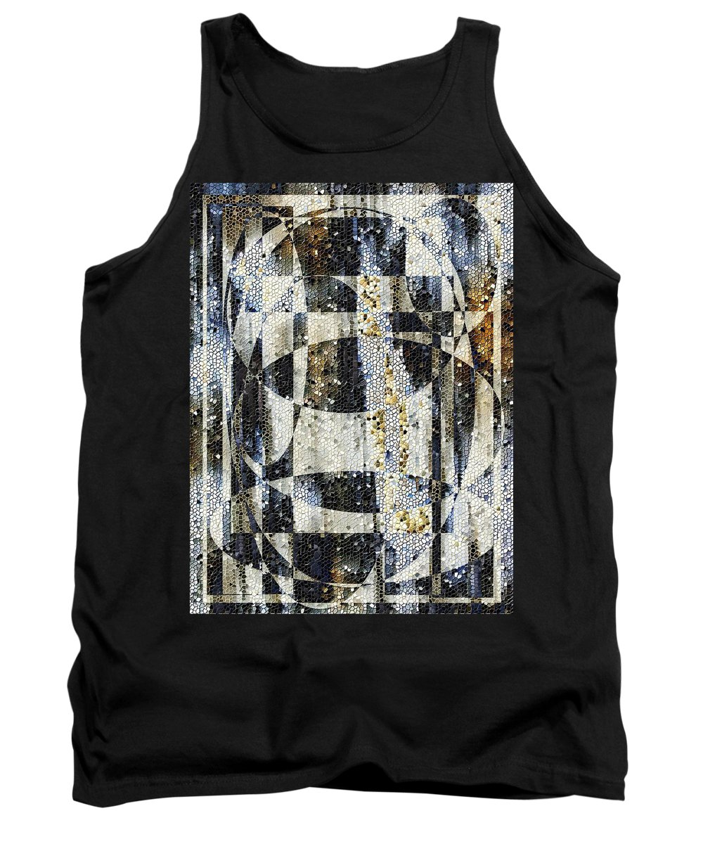 Mosaic Tank Top featuring the photograph Waterfalling by Tim Allen
