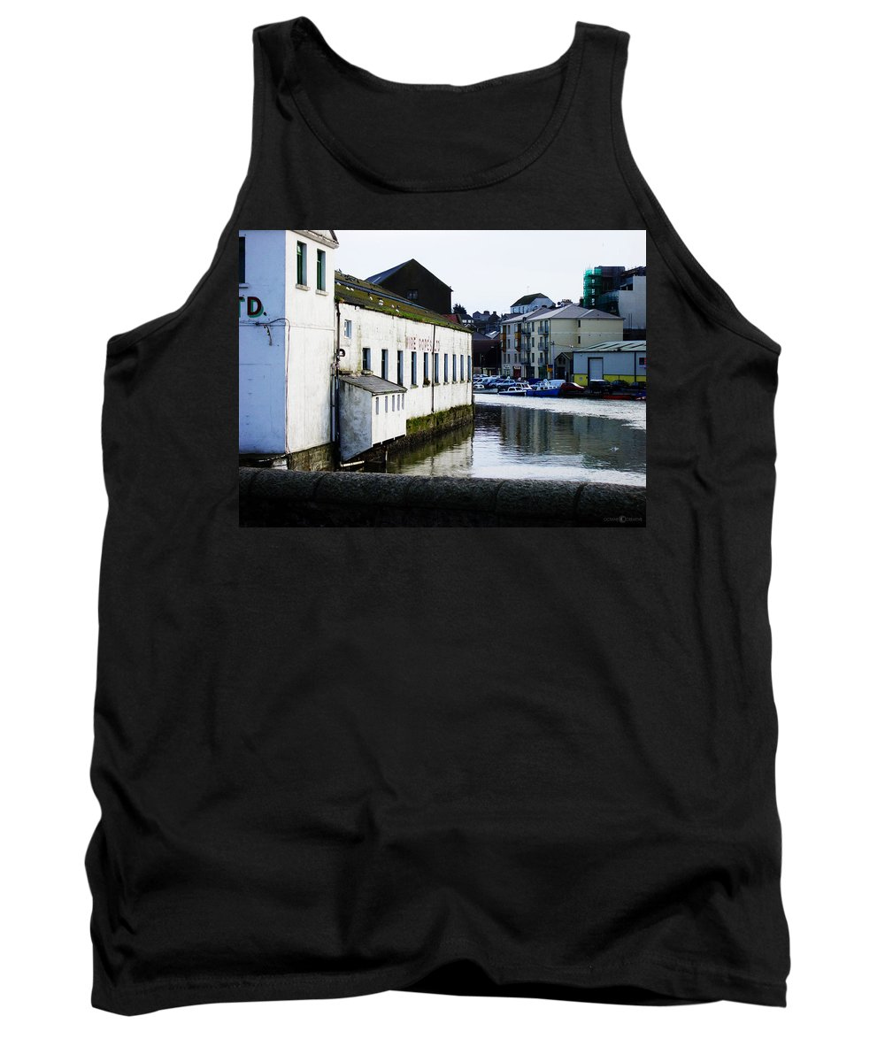 River Tank Top featuring the photograph Waterfront Factory by Tim Nyberg