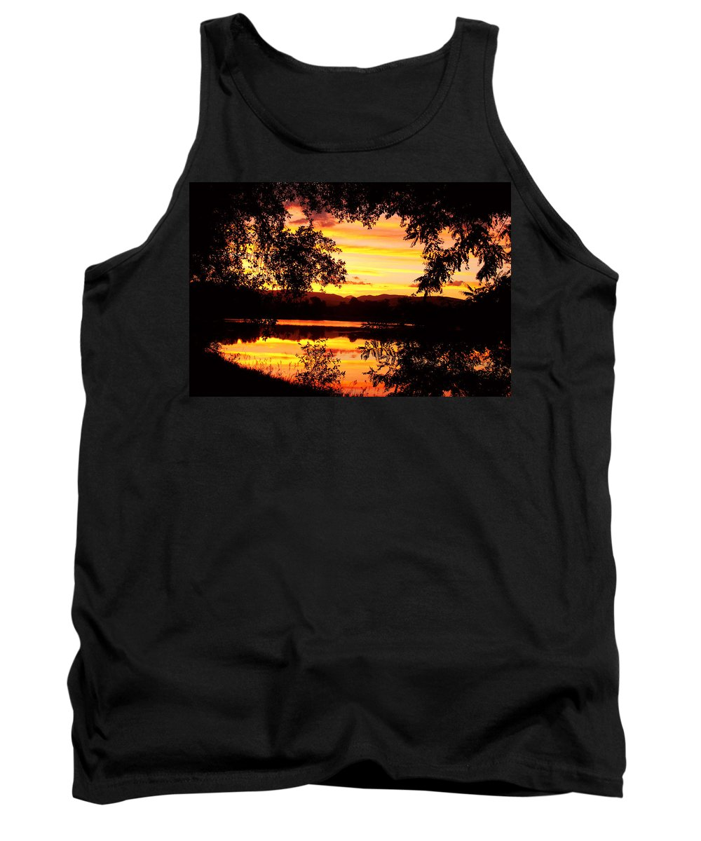Gold Tank Top featuring the photograph Waterfront Spectacular Sunset by James BO Insogna