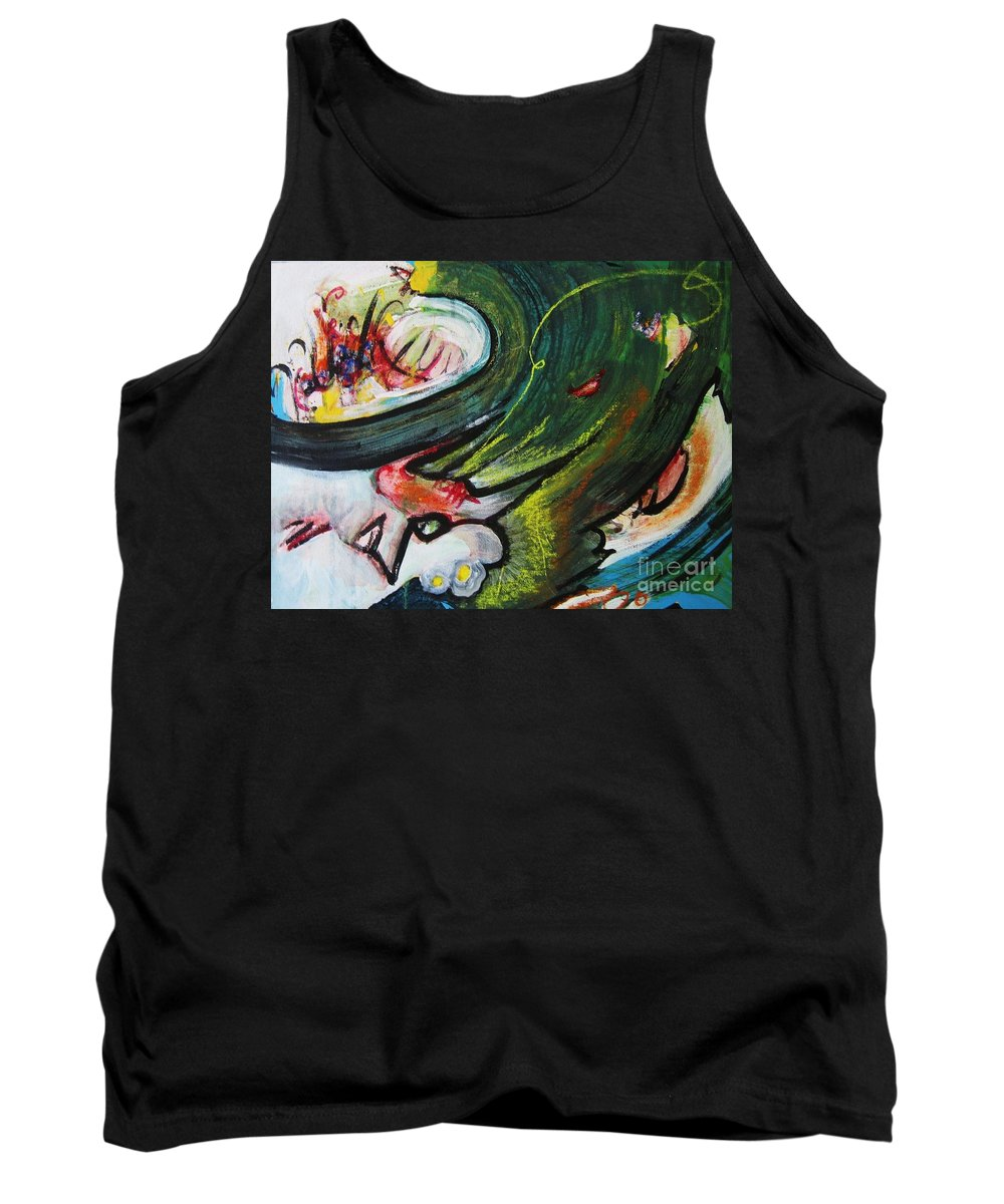 Abstract Paintings Paintings Abstract Art Paintings Tank Top featuring the painting Waves by Seon-Jeong Kim