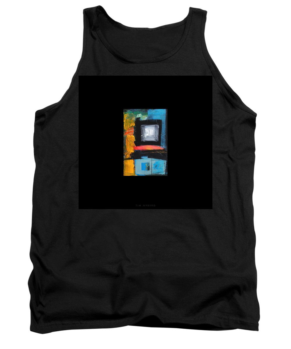 Abstract Tank Top featuring the painting We Interrupt Detail by Tim Nyberg