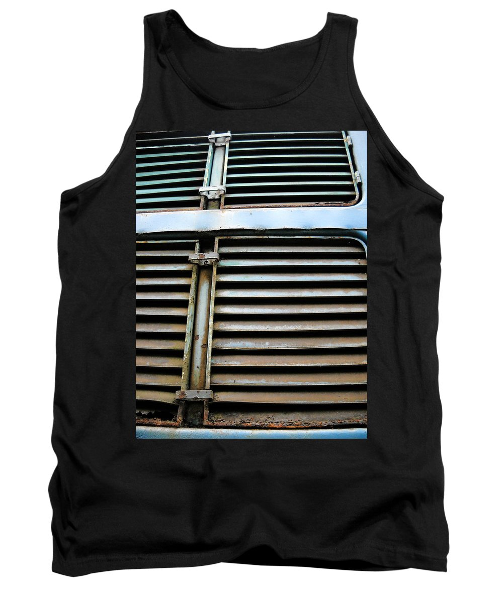 Blue Tank Top featuring the photograph Weathered Metal by Julia Raddatz