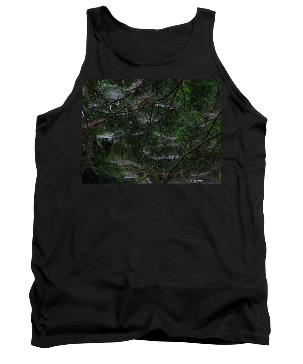 Patzer Tank Top featuring the photograph Webs Of A Tree by Greg Patzer