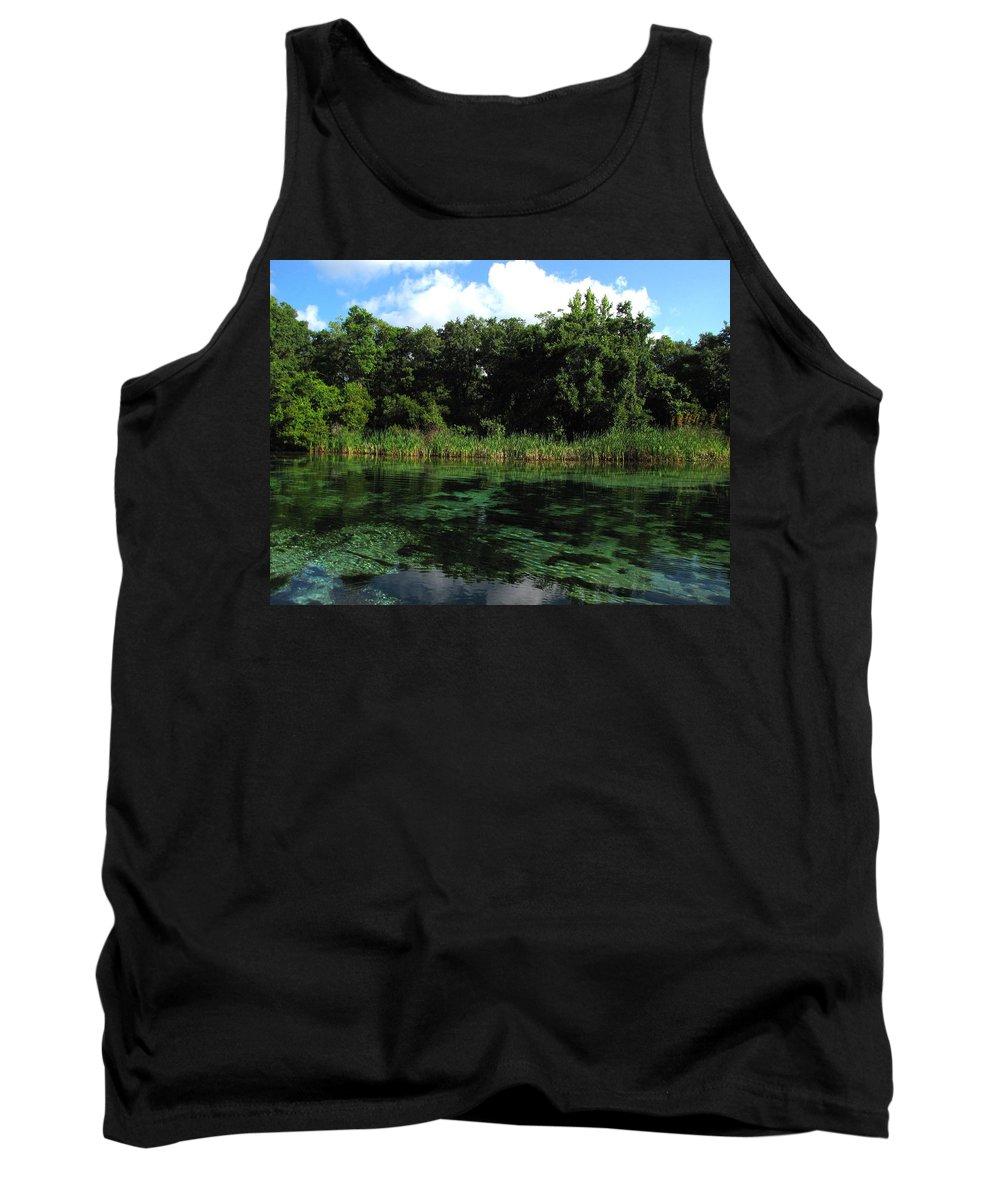 Weeki Wachee River Tank Top featuring the photograph Weeki Wachee River by Barbara Bowen