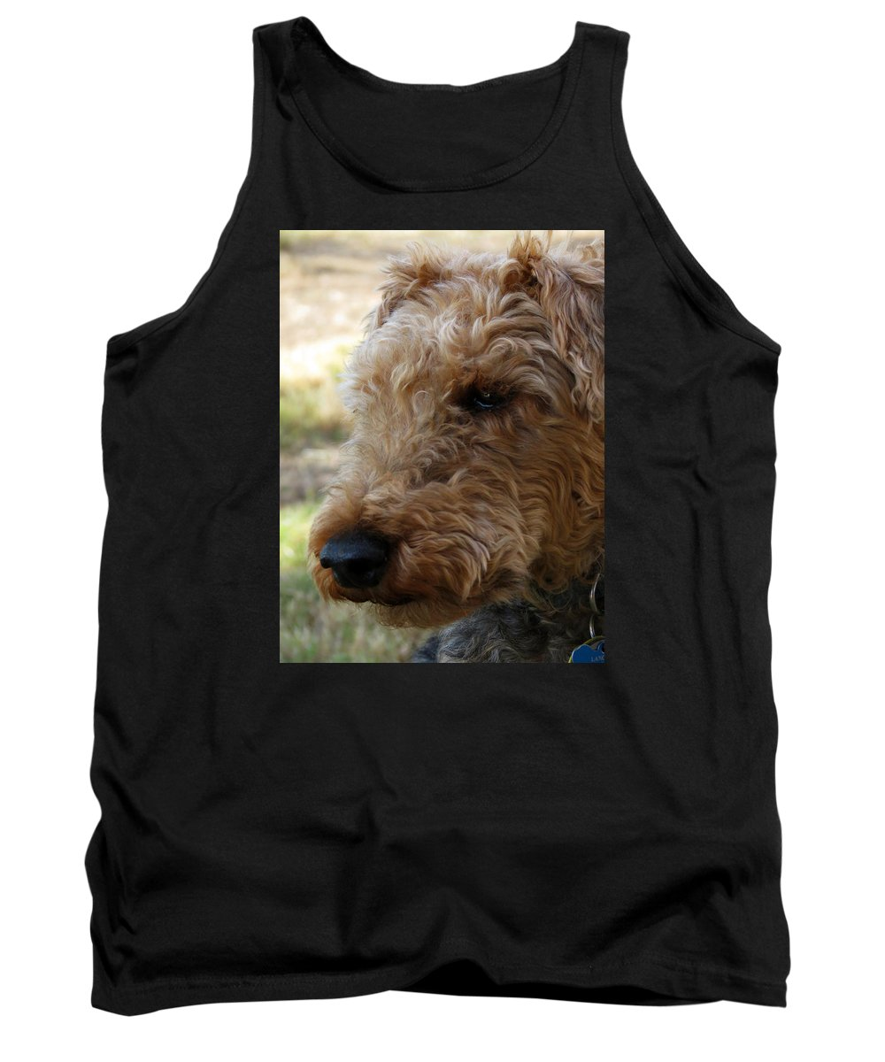Canine Tank Top featuring the photograph Welsh Lancelet by Laurel Powell