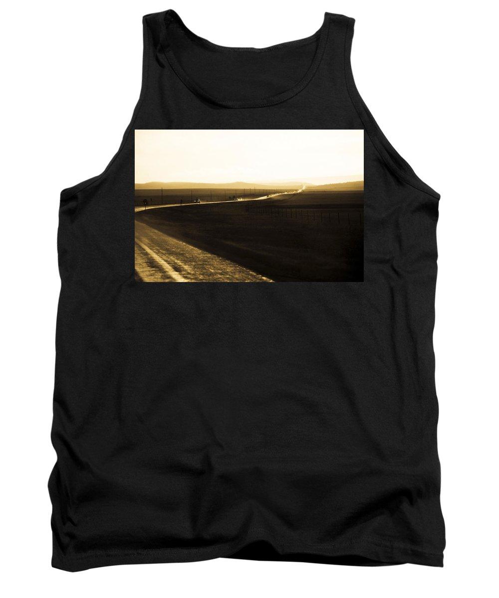 Rain Tank Top featuring the photograph Western Rain by Marilyn Hunt