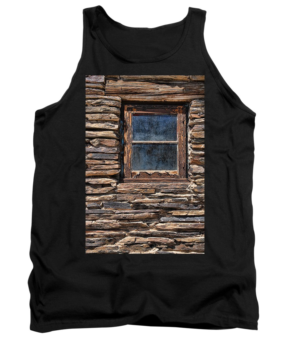 Old Western Tank Top featuring the photograph Western Window by Kelley King