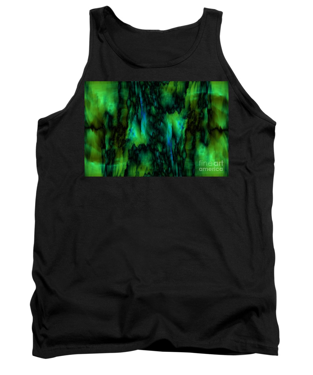 Abstract Tank Top featuring the digital art Wet Colors by Michal Boubin