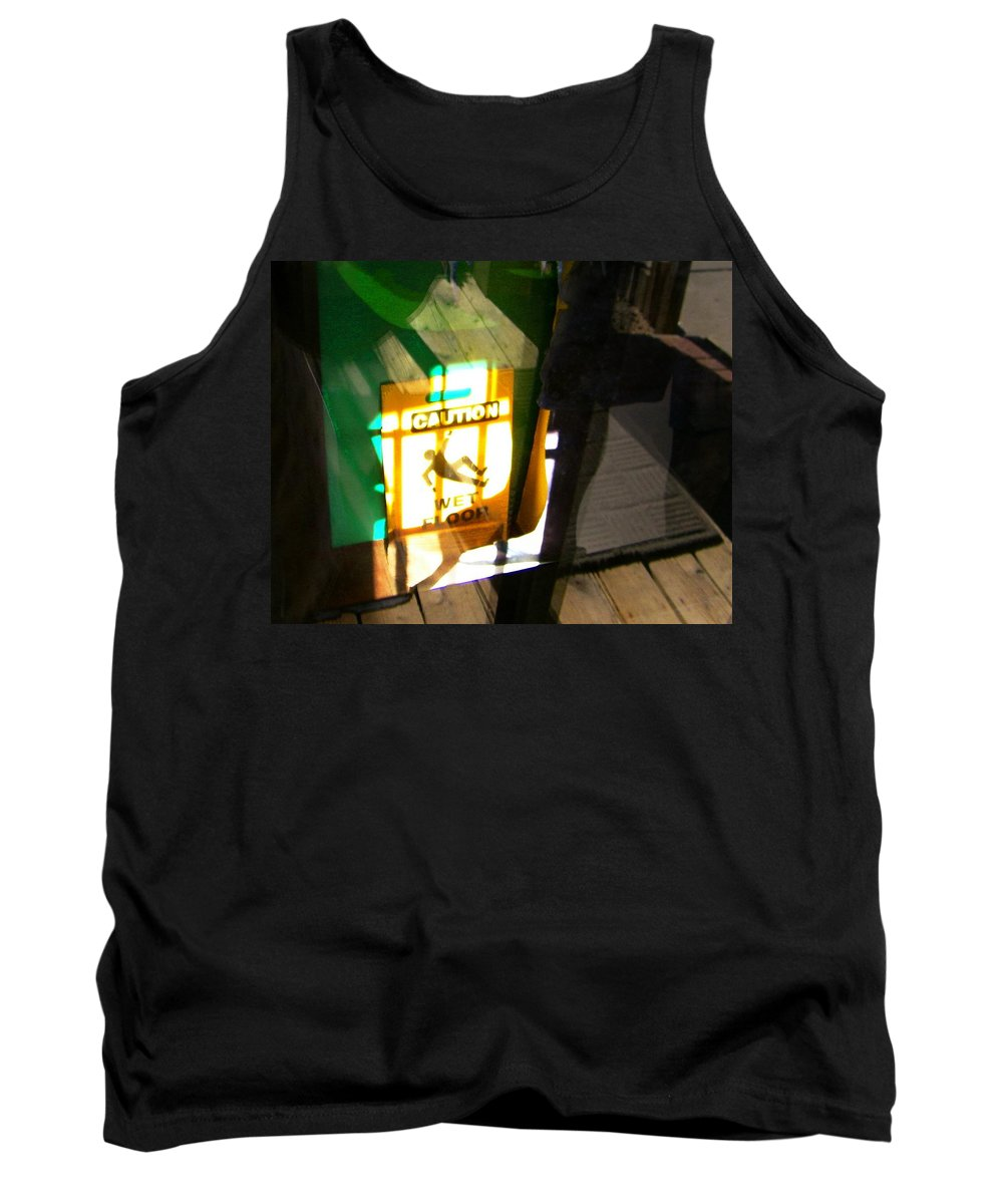 Abstract Tank Top featuring the photograph Wet Floor by Lenore Senior