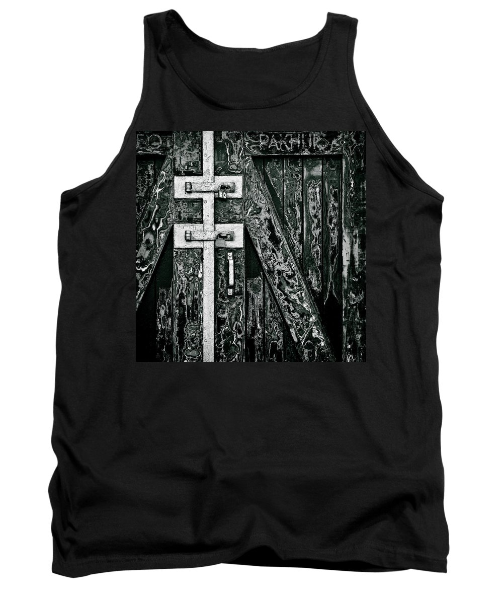 Old Door Tank Top featuring the photograph What Once Was Green... by Dave Bowman