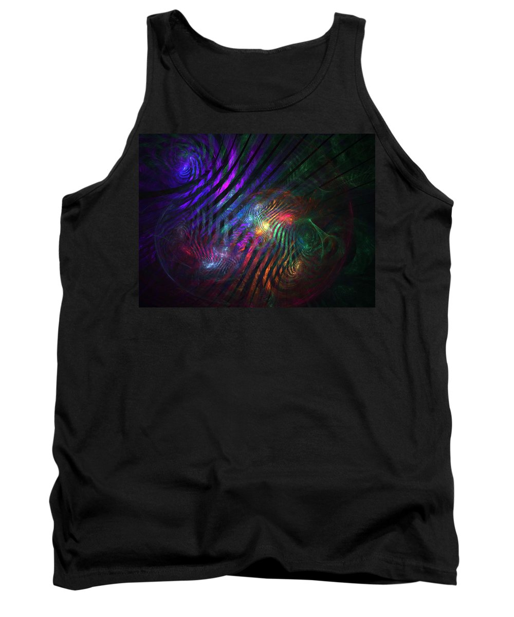 Fractal Tank Top featuring the digital art What Was And What Will Be by Lyle Hatch