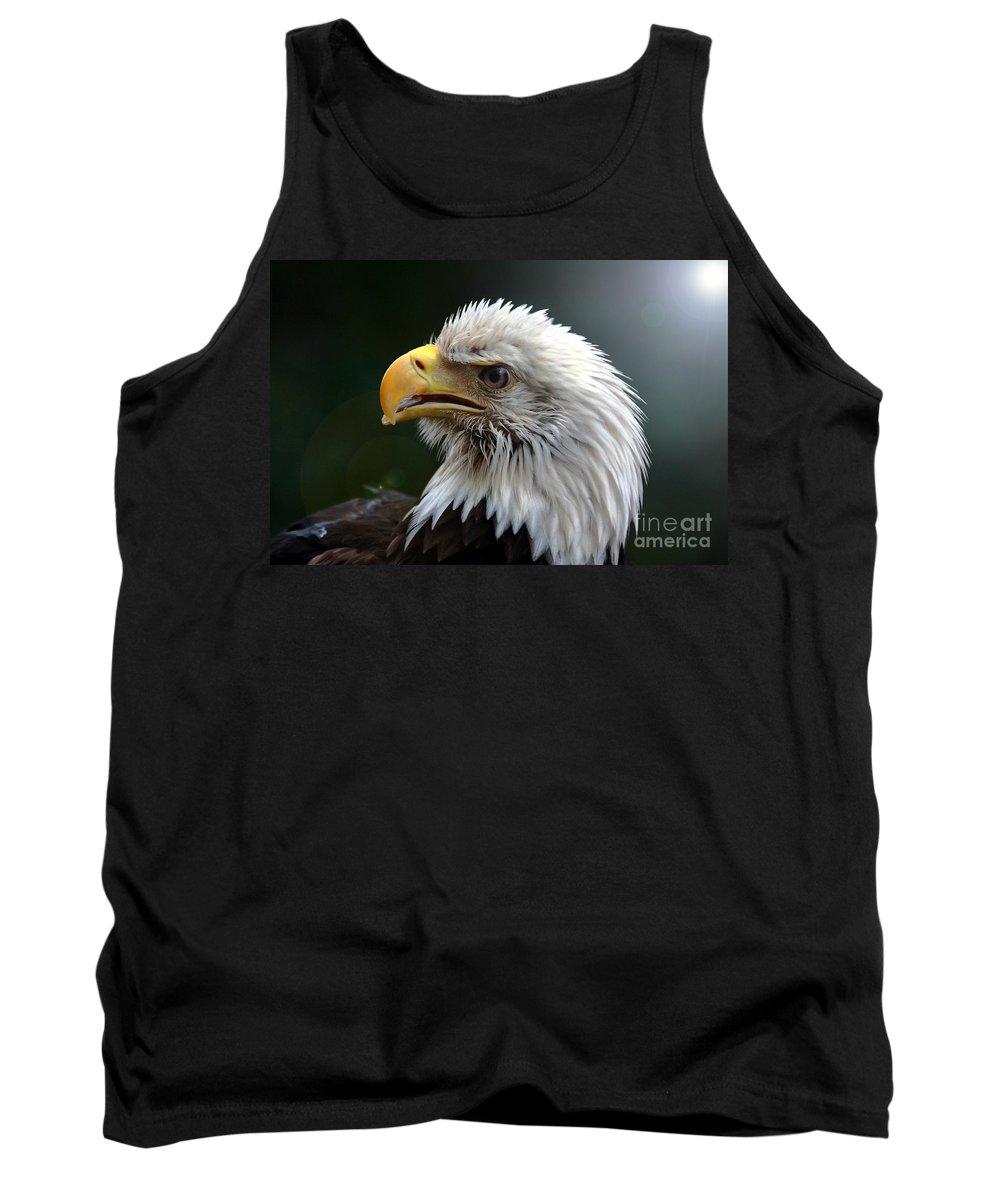 Bird Tank Top featuring the photograph Where Eagles Dare 3 by Randy Matthews