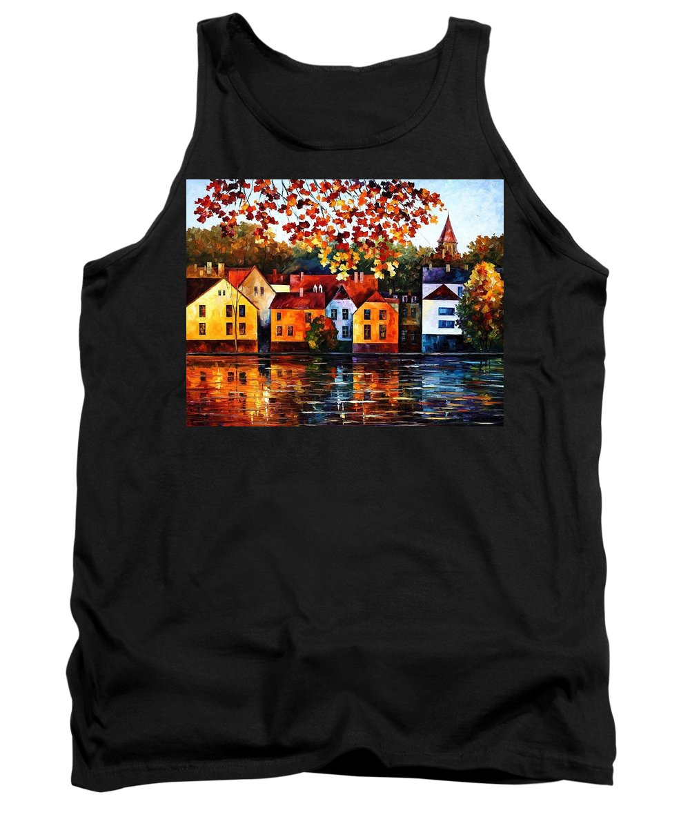 Afremov Tank Top featuring the painting Where I Grew Up by Leonid Afremov