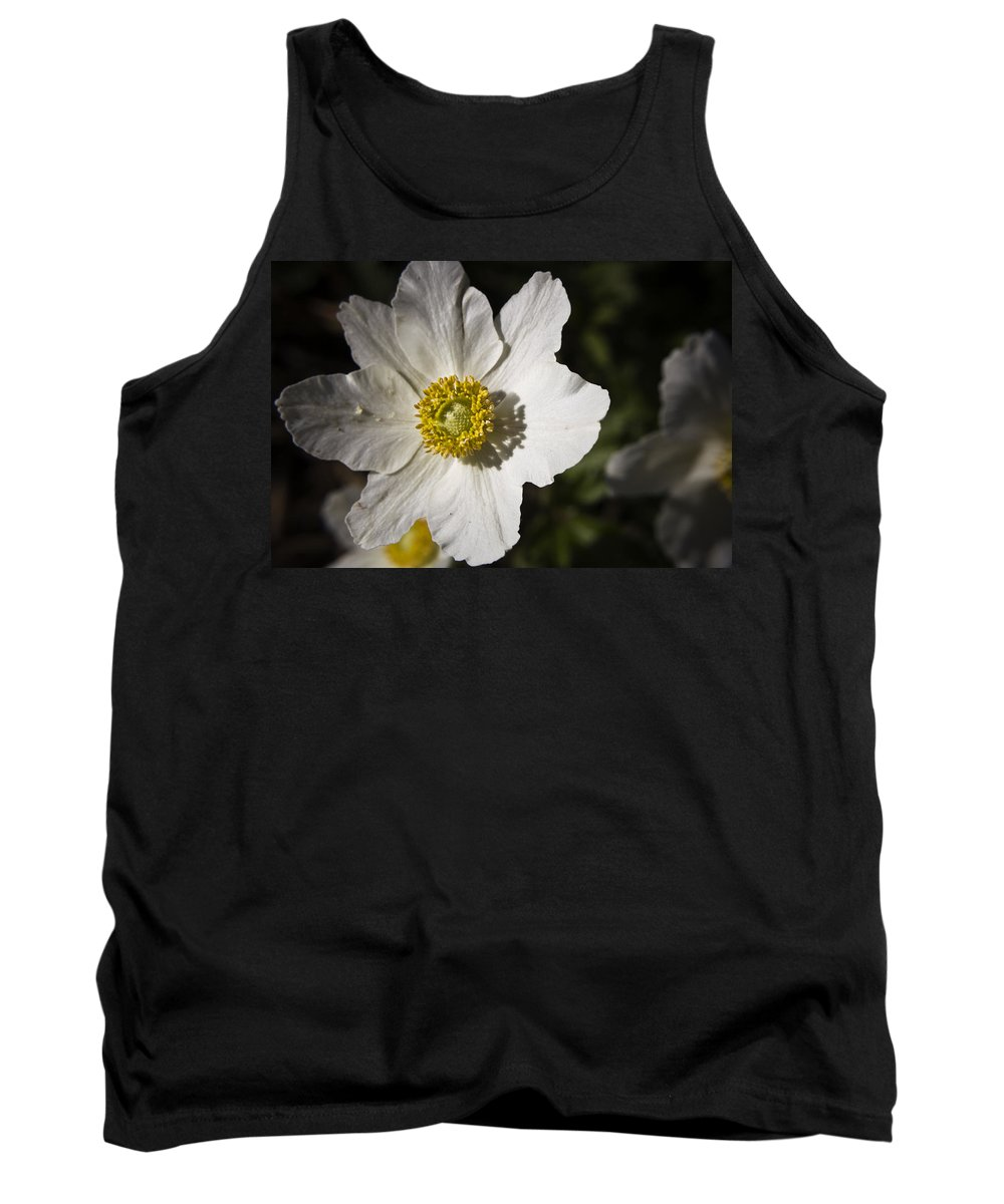 Flower Tank Top featuring the photograph White Anemone by Teresa Mucha