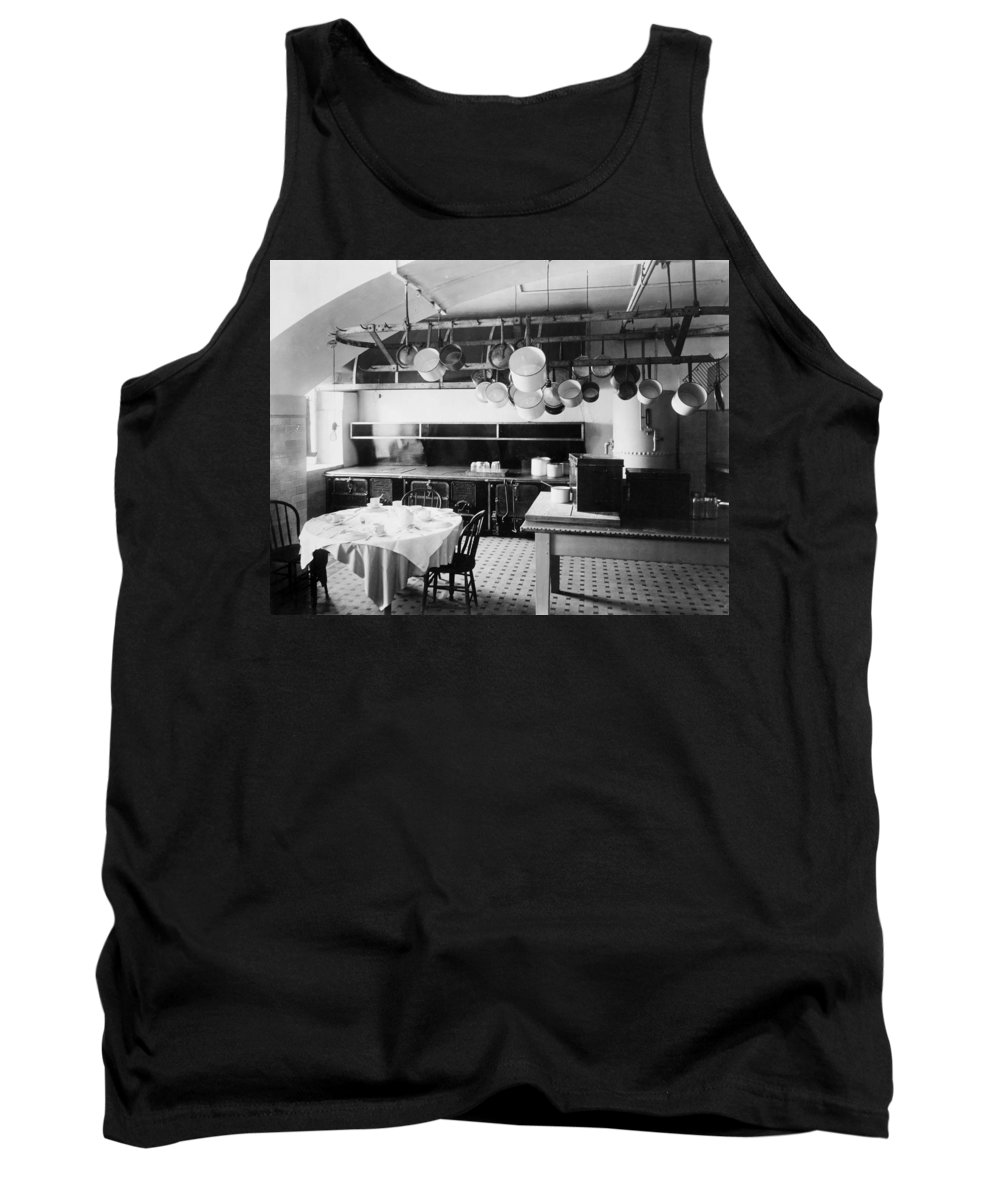 1901 Tank Top featuring the photograph White House Kitchen, 1901 by Granger