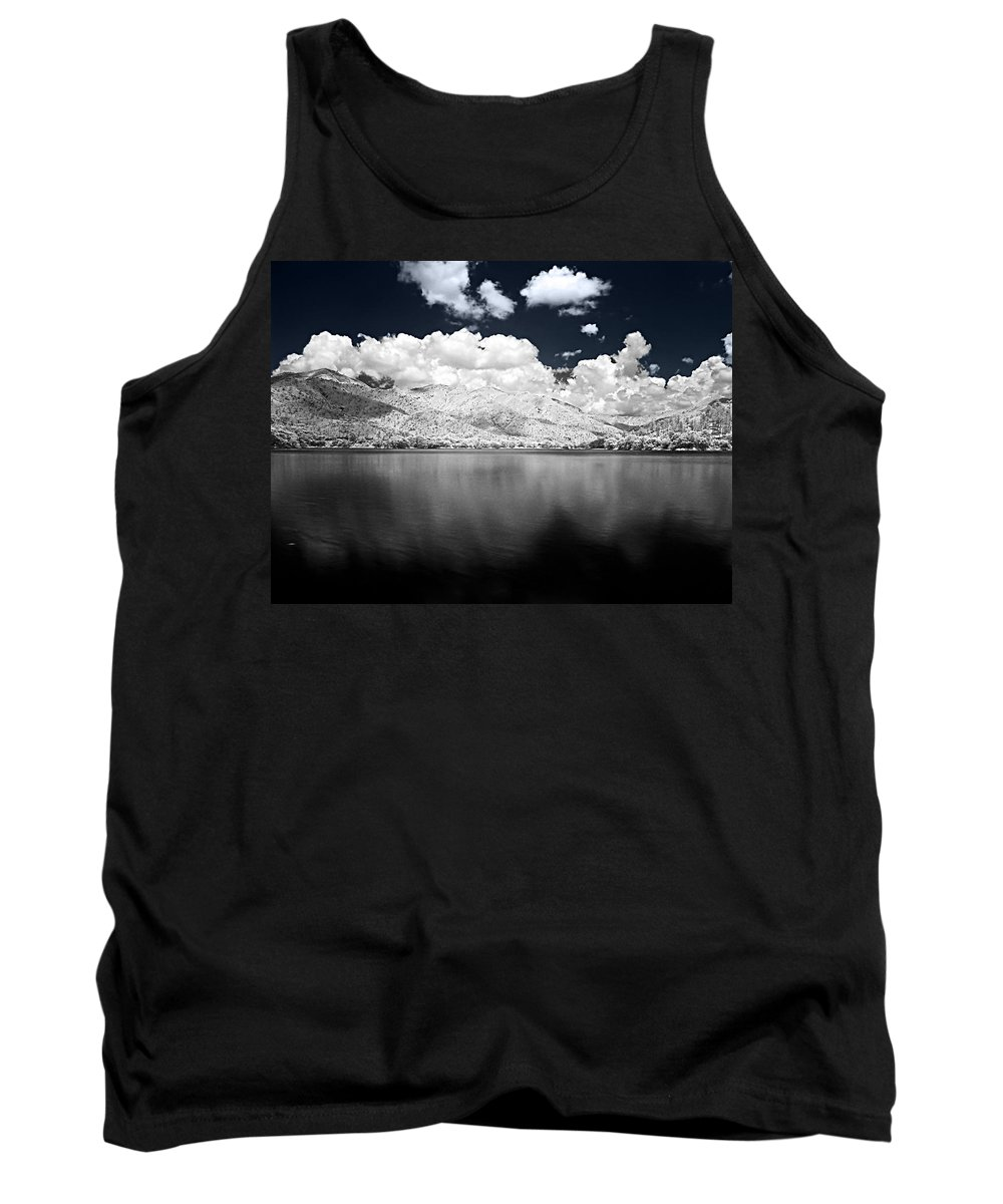 Infrarred Tank Top featuring the photograph White Land by Galeria Trompiz