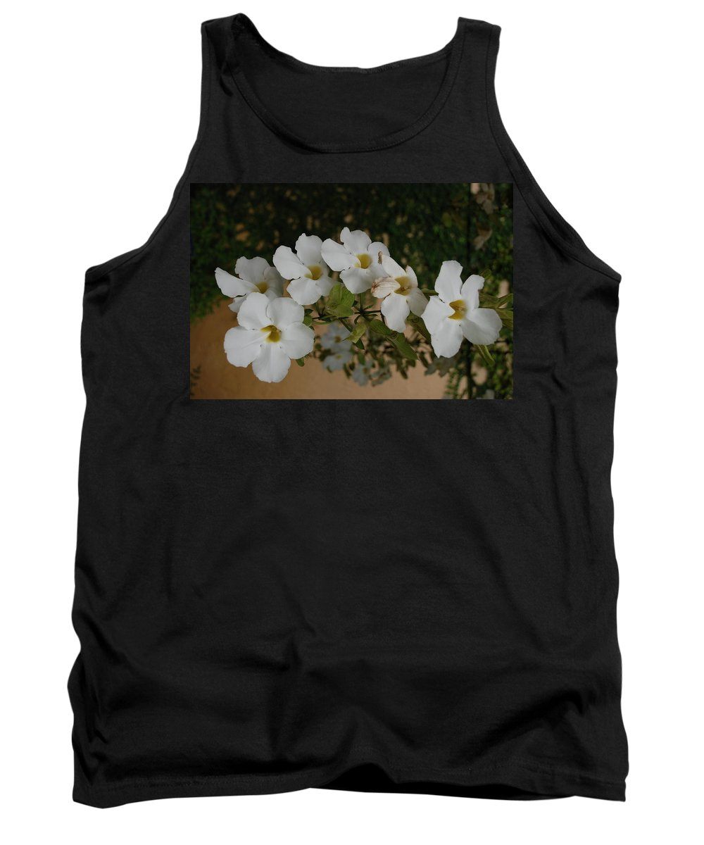 Macro Tank Top featuring the photograph White Orchids by Rob Hans